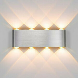 8W LED Wall Lights Up/Down Outdoor/Indoor Room Lamp Sconce light Lamp UK STOCK