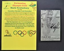TEWKESBURY MARK CANADA SWIMMING OLYMPIC GOLD MEDAL 1992 SIGNED PICTURE