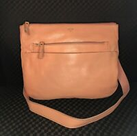 FOSSIL TESSA Peach Leather Shoulder Bag Purse