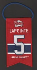 GUY LAPOINTE  MONTREAL CANADIENS JERSEY RETIREMENT # BANNER  # 5   INV J7282