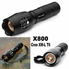 6000lm ShadowHawk X800 CREE XM-L T6 Zoomable Flashlight LED Military Torch G700