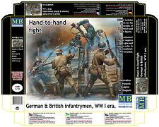 "Master Box 1/35 WWI German and British Infantrymen ""Hand-to-Hand Fight"""