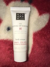 The Ritual of Sakura Body Cream 10ml Sample - organic rice milk & cherry blossom