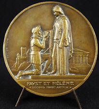 Médaille Théatre de Goethe Faust & Hélène Raoul Bénard d'ap David D'Angers medal