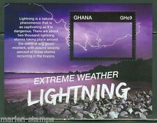 GHANA  2015 EXTREME WEATHER LIGHTNING SOUVENIR SHEET  MINT NH