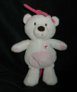 JUST ONE YOU CARTER'S BABY PINK MUSICAL TEDDY BEAR 63017 STUFFED ANIMAL PLUSH