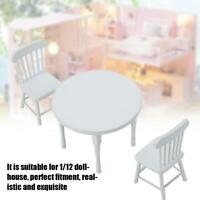 1:12 Dollhouse Miniature Dining Table Chair Set Garden Furniture Decoration Toy