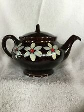 Vintage Royal Canadian Art Pottery Brown teapot Hamilton, Canada