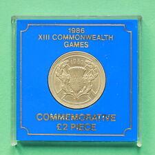 1986 ELISABETTA II Giochi del Commonwealth due Pound Coin con montante SNo36016