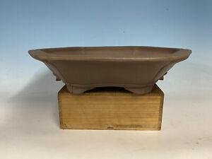 """Beautiful Handmade Unglazed Tokoname Bonsai Tree Pot By Sanpo 19 1/2"""" Large Size"""