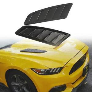 2PCS Car Air Flow Intake Hood Scoop Decor Sticker Vent Louver Panel Bonnet Cover