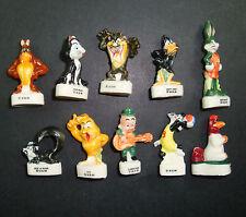 SERIE DE 10 FEVES DIFERENTES WARNER BROS 1996 DESSINS ANIMÉS CARTOON TITI BUNNY