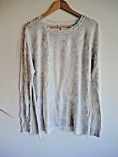 Stunning White & Silver WITCHERY COTTON Knit Jumper Size XL