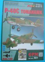 GPM 481 (22/2016) - American fighter Republicc P-40C Tomahawk