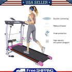 Folding Manual Treadmill Working Machine Cardio Fitness Exercise Incline Home US