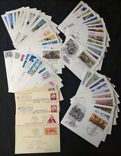 Us Fdc First Day Lot of 55 1949-91 Postal Cards All Different Fipex Reply Mnh