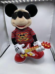 Disney Rock Star Mickey Mouse w/Guitar Dance Sing Music 2010 Mattel Tested Works