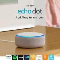 All-new Echo Dot (3rd Gen) - Smart speaker with Alexa - Sandstone Fabric ++