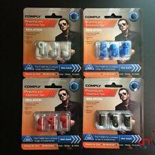 GENUINE Comply Foam Tips T-400 3 Pairs Black/Platinum Eartips For Monster UE JVC