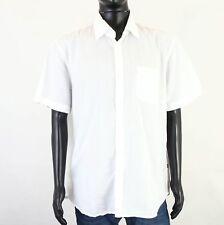 Hugo Boss Men's Short-Sleeved White Shirt Int XXL