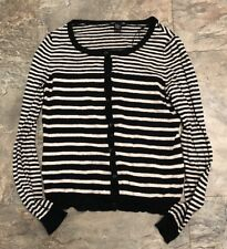 Basic H&M Striped Button Down Cardigan Sweater Size S