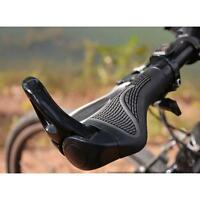 New Rubber Ergonomic MTB Mountain Bike Bicycle Lock-on Handlebar Grips Necessary