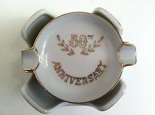 VINTAGE LEFTON 50TH GOLDEN ANNIVERSARY NESTED ASHTRAYS WITH HOLDER TD 582