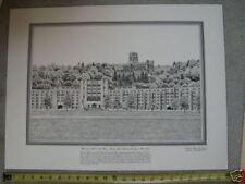 Washington Hall on the Plain USMA Wst Pt drawing 11x14