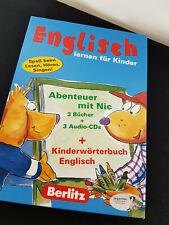 Englisch lernen für Kinder Berlitz 3 Bücher + 3 Audio CDs