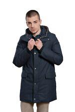 Aquascutum London Winter Parka Mantel Jacke Blu Gepolstert mit Kariert Muster XS