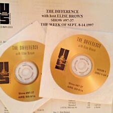 RADIO SHOW: DIFFERENCE w/ELISE BROWN 9/8/97 VAN MORRISON,CARS, DAVID BOWIE,CLASH