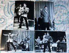 Elvis Presley On TV in the '50s 14 Photo B/W Set & Free CD!