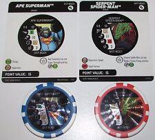 SERPENT SPIDER-MAN PUNISHER & APE SUPERMAN THE FLASH D17-M17-B001-B002 Heroclix