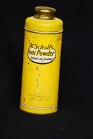 Vintage Dr Scholl's Foot Powder Antiseptic & Deodorant Tin with powder