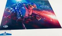 Steve Downes signed Master Chief 11X14 Metallic photo HALO BAS M62096