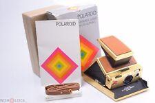 ✅ POLAROID SX-70 ALPHA-1 GOLD CAMERA ORIGINAL MAKERS BOX & INSTR. *TESTED*