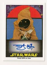 2017 TOPPS STAR WARS 1978 SUGAR-FREE WRAPPERS RUSTY GOFFE AUTO #196/199 JAWA