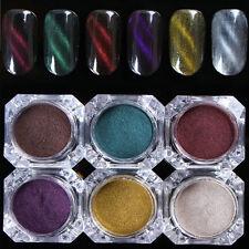 1box shine Holographic Laser Powder colorful Nail Glitter Chrome Pigments power
