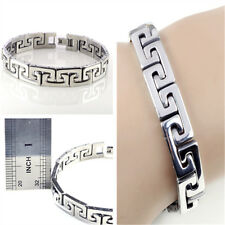 Men's cool stainless steel chain Braclet link Bangle wristband Gift Silver Punk