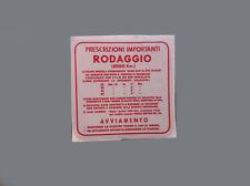 Adesivo Piaggio Vespa rodaggio - adesivi/adhesives/stickers/decal