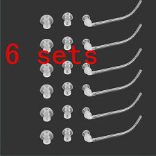 6 sets Eartips domes for Siemens Resound behind the ear Hearing Aid S M L -2015