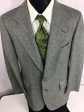 Vtg Chaps RALPH LAUREN Men GRAY Sport Coat HERRINGBONE Jacket Wool Blazer 38