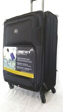 """$300 NEW Delsey Opti-Max 25"""" Expandable Spinner Suitcase Luggage Travel Black"""