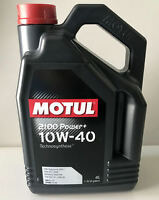 4 LITRI OLIO MOTUL 2100 POWER + 10W40 TECHNOSYNTHESE A3 B4 MB-APPROVAL 229.1