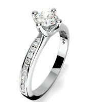 0.68 Ct Diamond Engagement Ring 14K Solid White Gold Wedding Rings Size 5 6 7 8