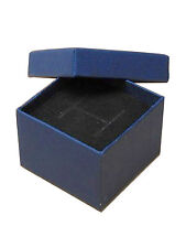 JOB LOT - 96 NAVY CARDBOARD RING BOXES WITH FOAM BACKED VELVET INSERTS £0.49each