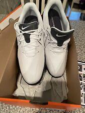 Nike Durasport III 3 Soft Spike Golf Shoes White/Black 628527-101 Mens Size 10
