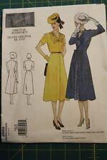 Vogue Vintage Model Original 1939 Design #2669 Size 6-8-10 Misses Dress & Coat