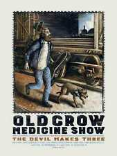 Old Crow Medicine Show poster May 2015 Tour Myrtle Beach Charleston Florida
