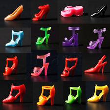 20Paires chaussures barbie poupée mannequin sandales talons bottes shoes Noël HG